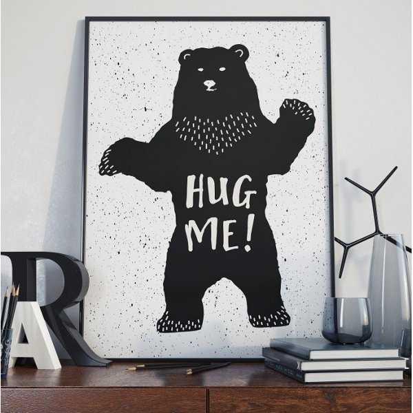HUG ME! - Plakat designerski