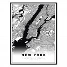 plakat mapa new york