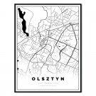 plakat mapa Olsztyn