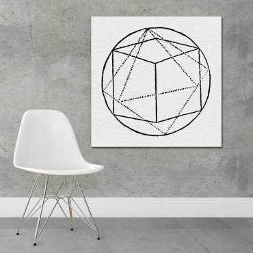 ART FORM GEOMETRY - Designerski obraz na płótnie