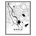 plakat mapa Opole