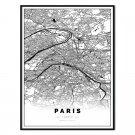 plakat mapa paryż