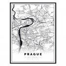 plakat mapa Prague