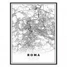 plakat mapa Rzym