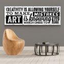 CREATIVITY & ART - Obraz typograficzny