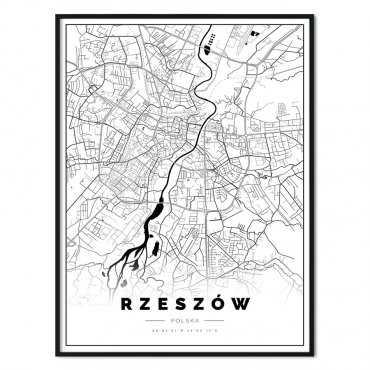 plakat z mapą rzeszowa