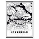 plakat mapa Sztokholm