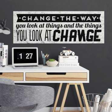 CHANGE THE WAY - Obraz motywacyjny na płótnie