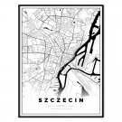 plakat mapa Szczecin