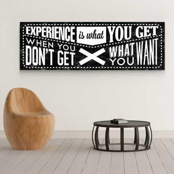EXPERIENCE - Obraz motywacyjny na płótnie