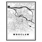 plakat mapa Wrocław