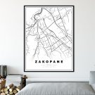 plakat z mapą Zakopanego