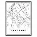 plakat mapa Zakopane