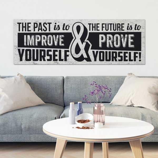 PAST & FUTURE - Obraz motywacyjny na płótnie
