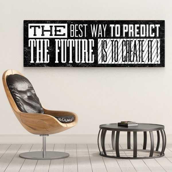CREATE THE FUTURE - Obraz motywacyjny na płótnie
