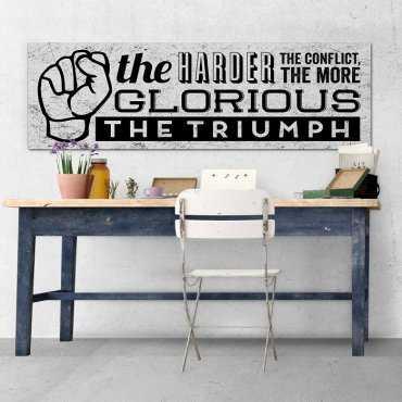 THE TRIUMPH - Obraz motywacyjny na płótnie