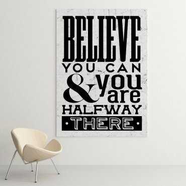 BELIEVE YOU CAN - Obraz motywacyjny