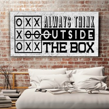 ALWAYS THINK OUTSIDE THE BOX - Obraz motywacyjny
