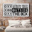 ALWAYS THINK OUTSIDE THE BOX - Obraz motywacyjny