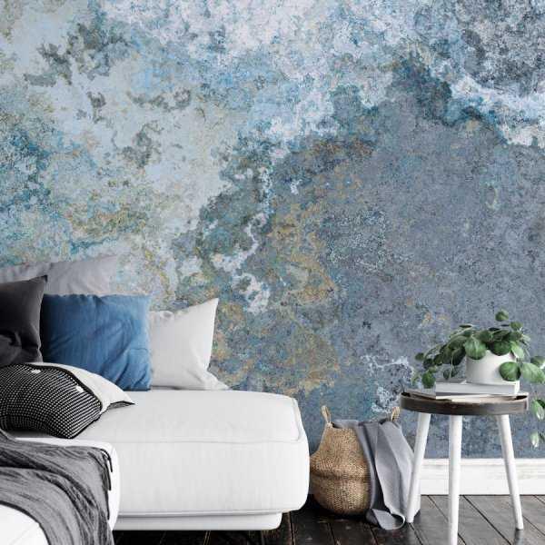 tapeta grunge marble blue