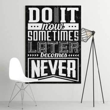 DO IT NOW - Obraz motywacyjny na płótnie