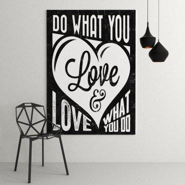 DO WHAT YOU LOVE & LOVE WHAT YOU DO - Modny obraz motywacyjny
