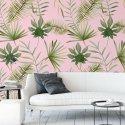 tapeta jungle pink