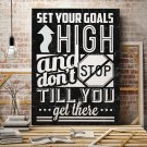 SET YOUR GOALS HIGH - Obraz motywacyjny