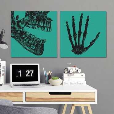 SKULL DESIGN - Komplet dwóch obrazów na płótnie