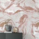 tapeta marble rose gold