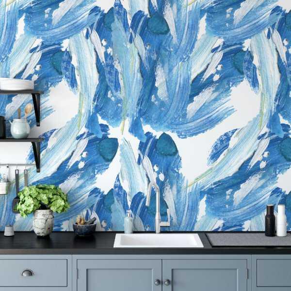 tapeta marine waves art