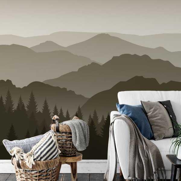 tapeta mountains landview