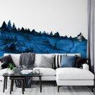 tapeta navy blue forest