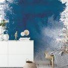 tapeta navy blue gold
