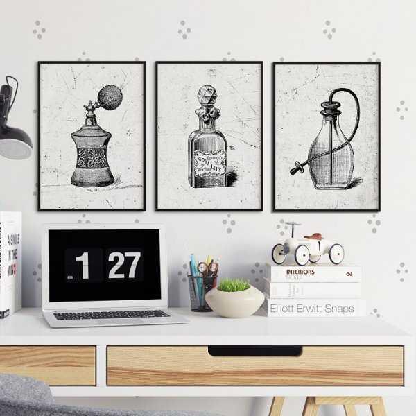 PERFUM ART - Komplet plakatów w ramach