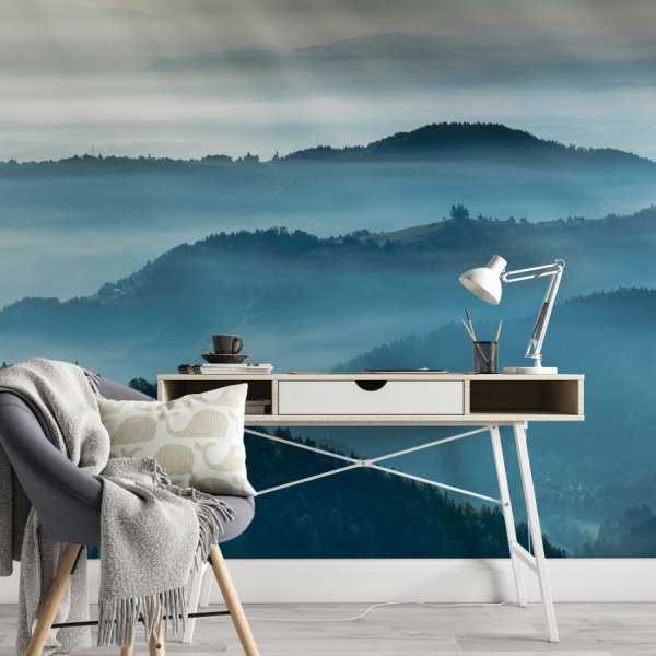 tapeta navy blue mist