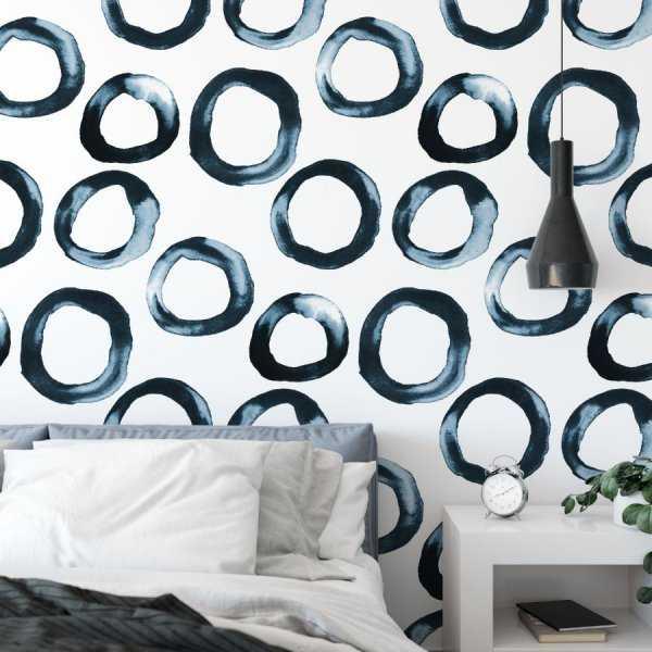 tapeta navy blue rings