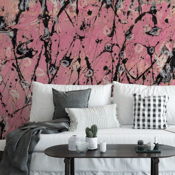 tapeta pink-black twister