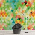 POWIEW WIOSNY - Tapeta na ścianę w trójkąty
