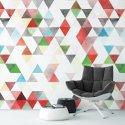 COLORFLAME - Tapeta na ścianę w trójkąty