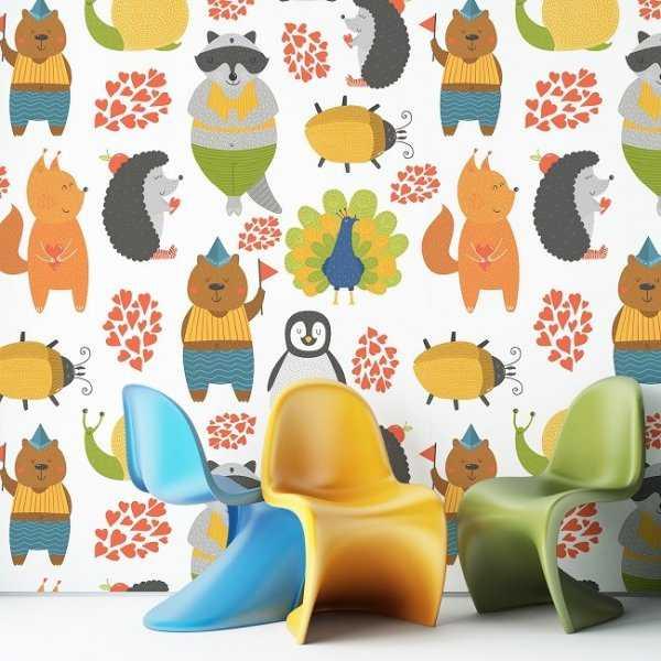 ANIMAL's WORLD - Tapeta dla dzieci