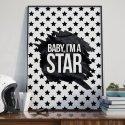 BABY, I'M A STAR - Plakat designerski
