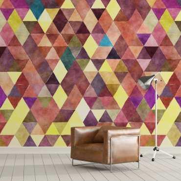 VANILLA DESIGN  - Nowoczesna tapeta w trójkąty