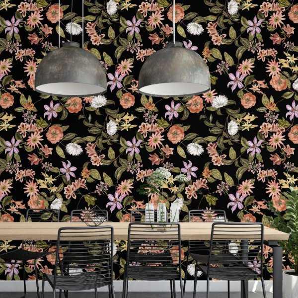 tapeta shining flowers
