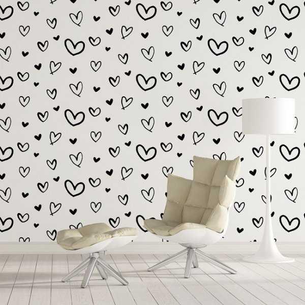 PRETTY LOVE - Tapeta na ścianę