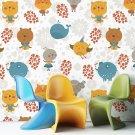 HAPPY ANIMALS - Tapeta na ścianę dla dzieci