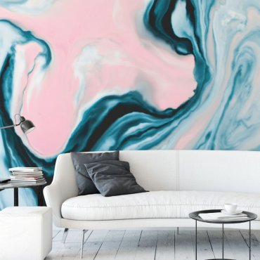 tapeta turquoise marble wave