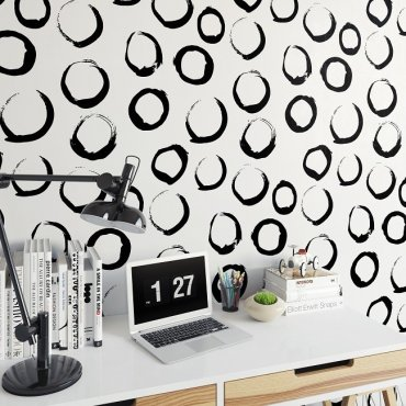 ARTYSTYCZNE OKRĘGI - Tapeta na ścianę