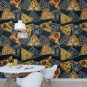 tapeta wall of pizza