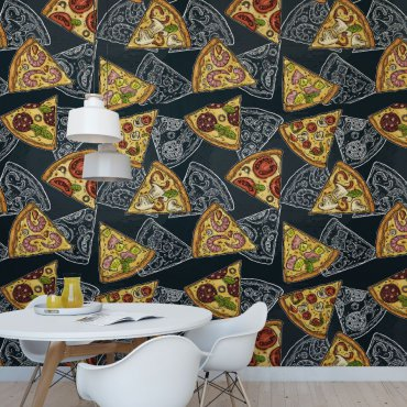 tapeta wall of pizza